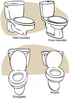 bowl type toilets