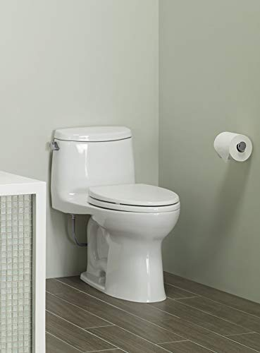 Toto MS604114CEFG#01 UltraMax II One-Piece Elongated 1.28 GPF Universal Height Toilet with CEFIONTECT, Cotton White, L 28 3/8