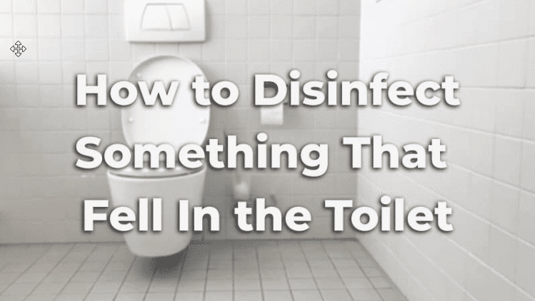 How To Disinfect Something That Fell In The Toilet