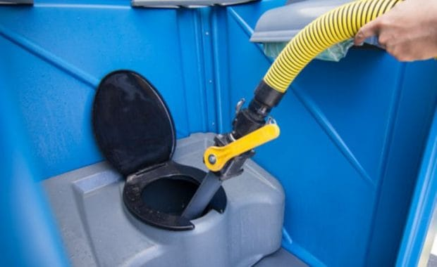 how to clean a porta potty
